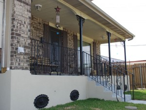 Raised house in New Orleans