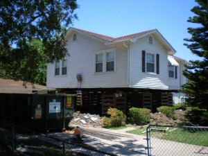 House Raising in New Orleans, Louisiana - In progress