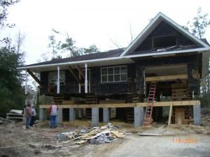 House Raising in New Orleans - Slidell, Louisiana - In progress