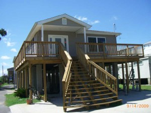 House Raising in New Orleans - LaFitte, Louisiana - After