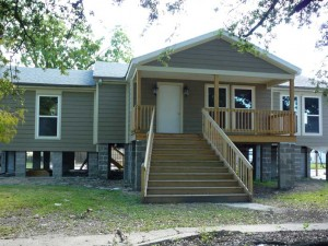 House Raising of slab house in Chalmette, Louisiana - After