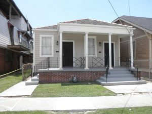 House in New Orleans before being raised